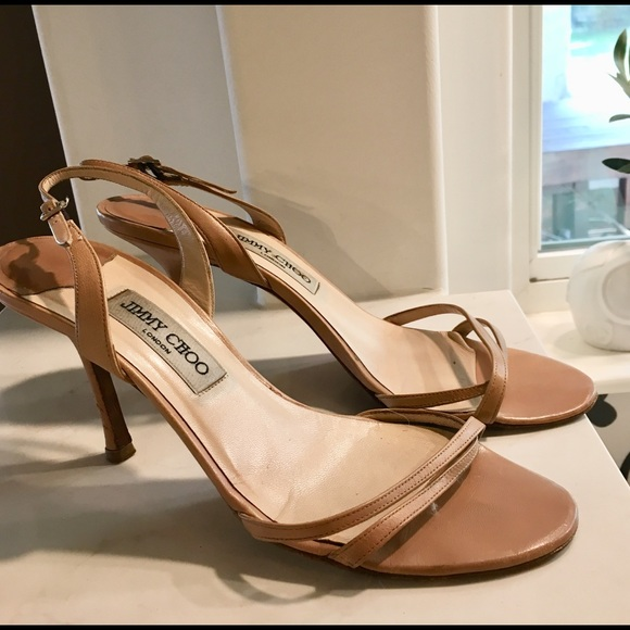 30fd1999848 Jimmy Choo Shoes   Nude India Slingback Sandals 10   Poshmark